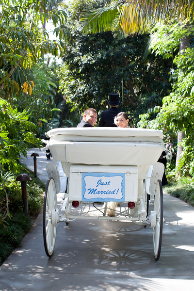 Disneyland wedding - Rose Court Garden - Carriage {Katie Keller Photography}