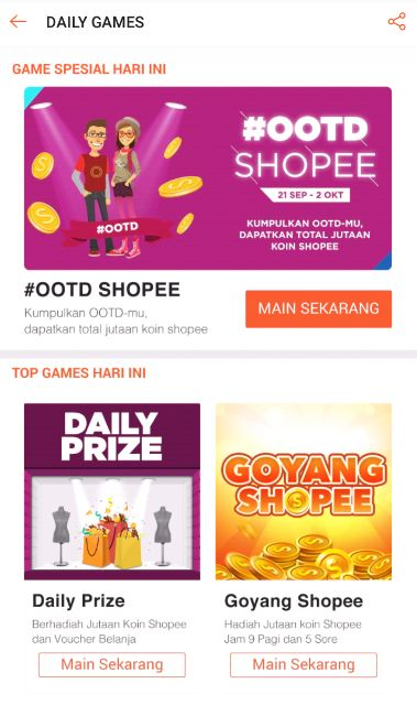 Daily Games Shopee