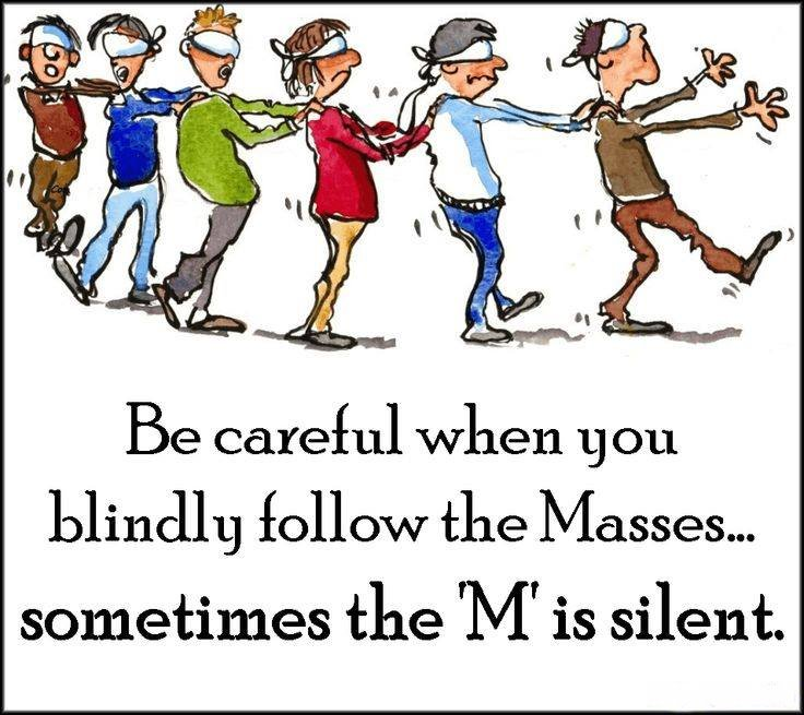 One Mans Funnies Be Careful When You Blindly Follow The Masses