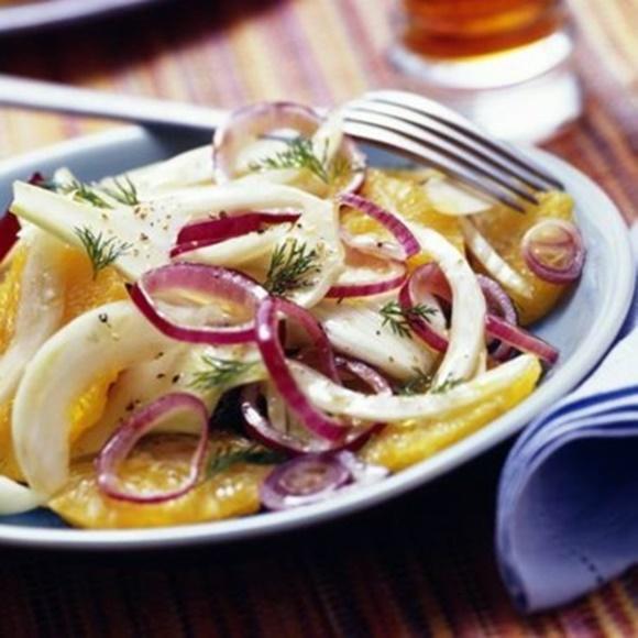Salade De Fenouils Aux Oignons Rouges Et Agrumes