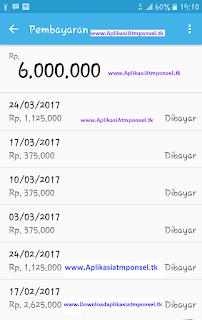 pembayaran uang komisi Aplikasi Atmponsel ajaib