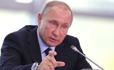 Vladimir Putin at the State Council Presidium meeting on the comprehensive development of the Russian Far East.
