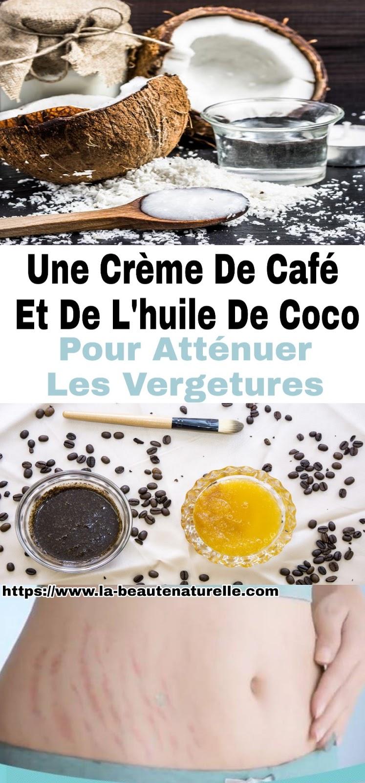 Une Crème De Café Et De L'huile De Coco Pour Atténuer Les Vergetures