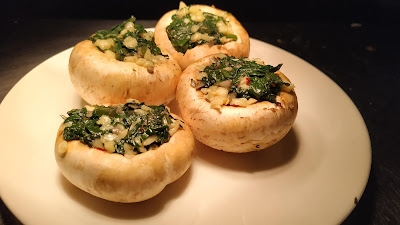Mushrooms stuffed with Spinach and cheese for mushroom Duplex recipe