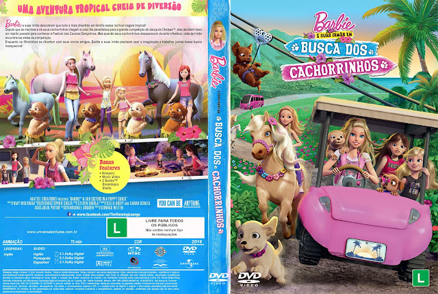 Capa DVD Barbie E Suas Irmãs Em Busca Dos Cachorrinhos