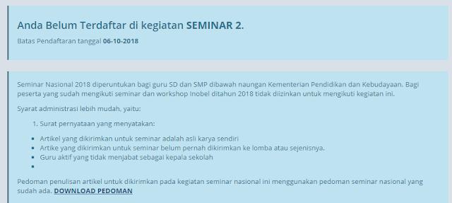 Seminar Nasional 2 Kesharlindung Dikdas 2018
