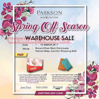 Parkson Spring Off Season Warehouse Sale 2017