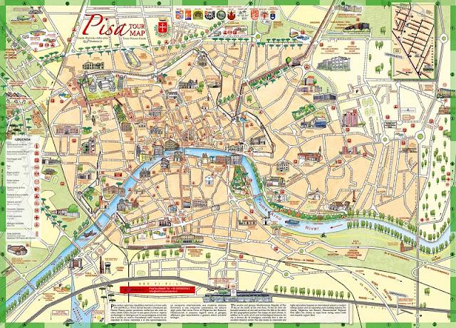 Mapa da cidade de Pisa
