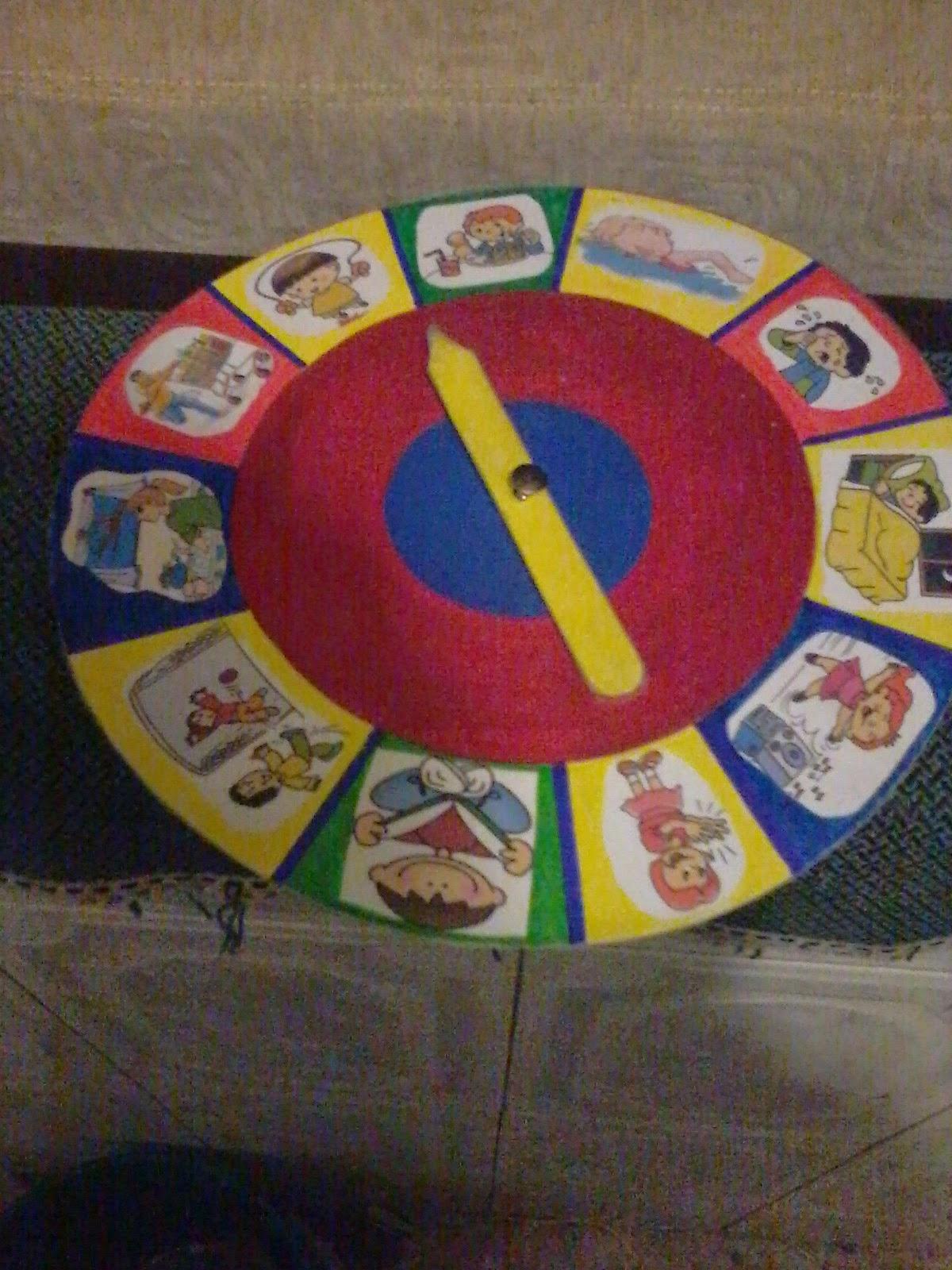 como hacer una ruleta matematica para niños