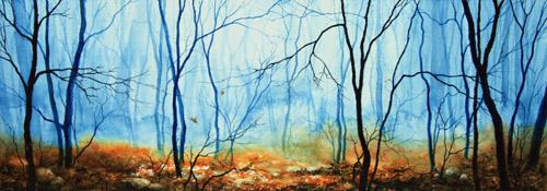 Koehler Art Blog Misty Autumn Woodland Painting