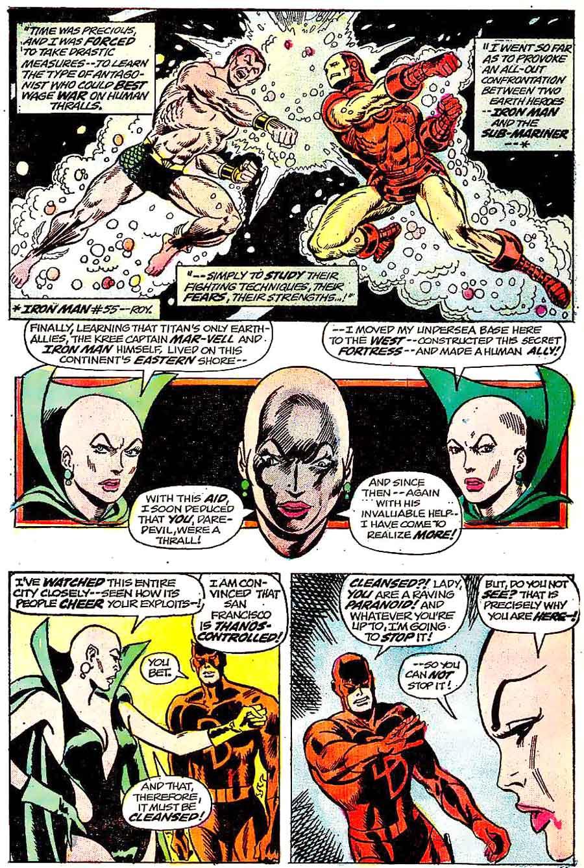 Daredevil v1 #105 marvel comic book page art by Jim Starlin