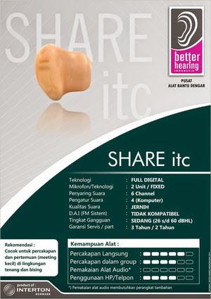 Alat Bantu dengar share ITC