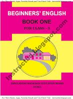 NCTB Ebtedayi Class Three Beginner's English Book One