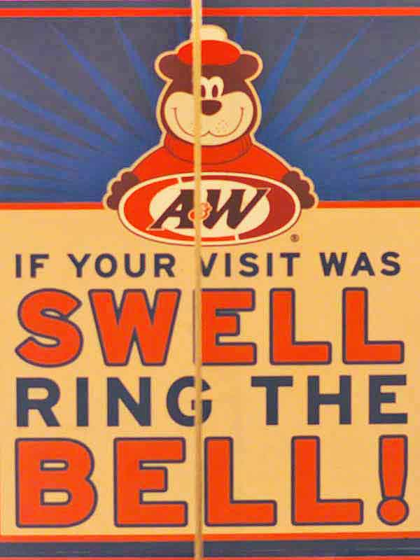 A&W, sign