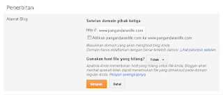 pengaturan custom domain blog