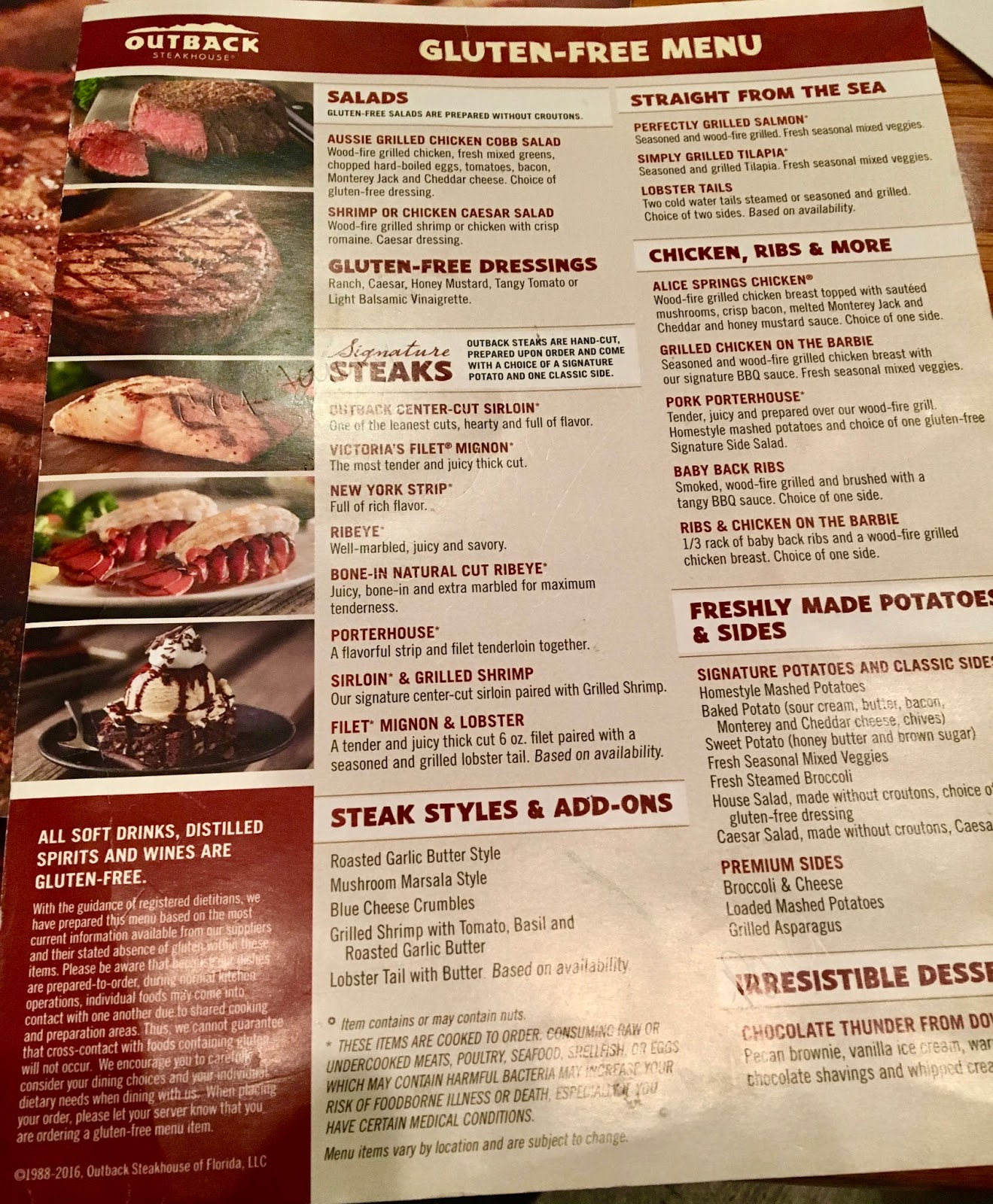 the gluten & dairy-free review blog: outback steakhouse review