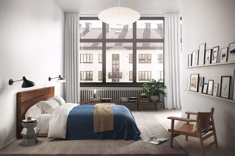 Apartamento nórdico en tonos grises y detalles neutros