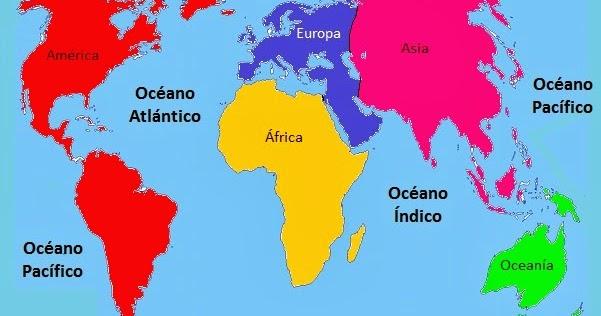 Cuales Son Los 6 Continentes Del Planisferio: Logística Da Gênesis: Oceanos Mares E Continentes