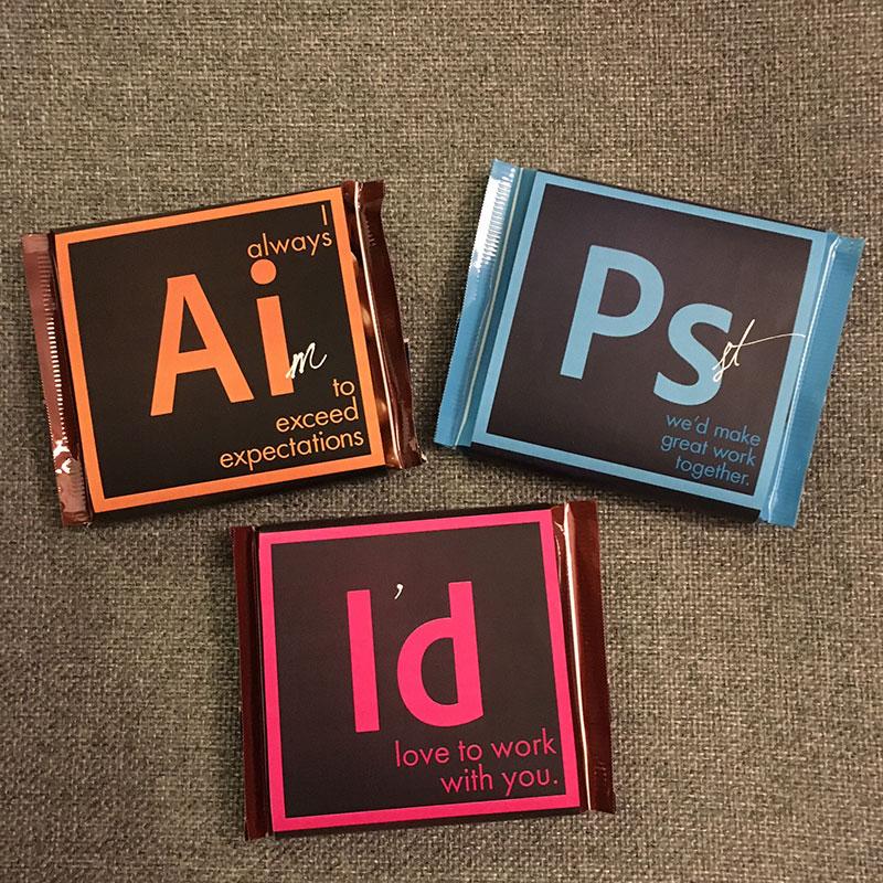 1e2fc0919 Adobe Suite Chocolate Bars by April Hansen