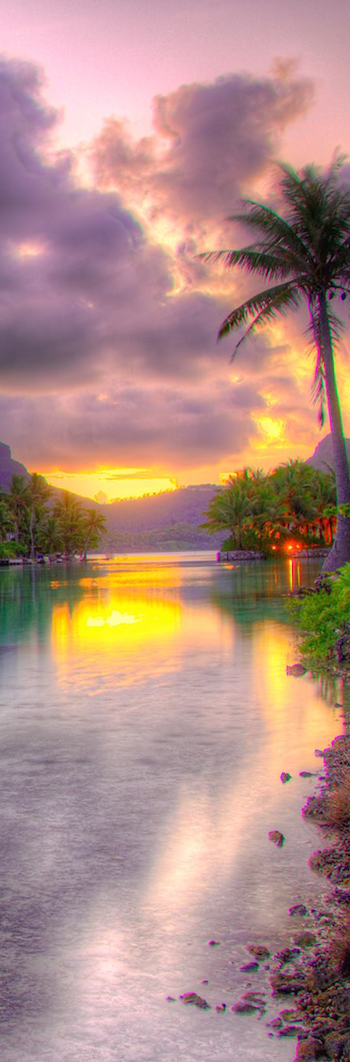 St. Regis Bora Bora at Sunset
