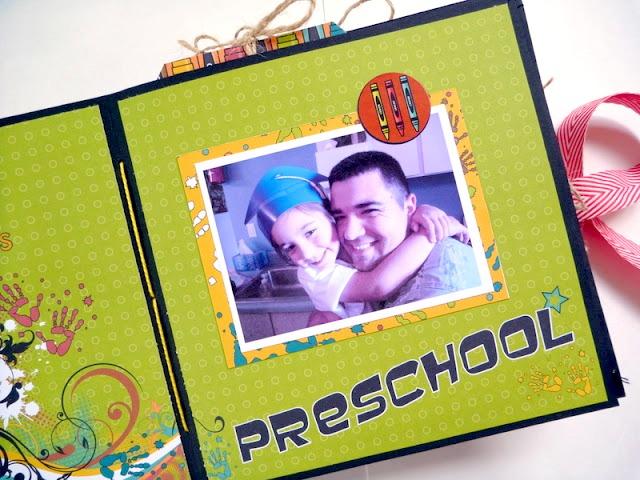 Moxxie School Days DIY Mini Album Inside Page Two Preschool by Dana Tatar