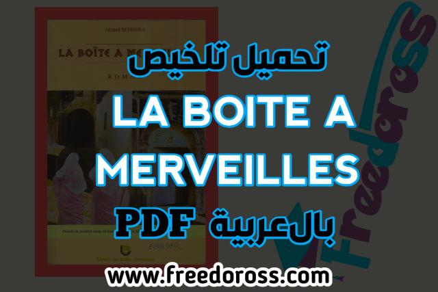 Resume de la boite a merveilles en arabe
