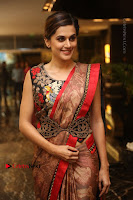 Tapsee Pannu Latest Stills in Red Silk Saree at Anando hma Pre Release Event .COM 0070.JPG