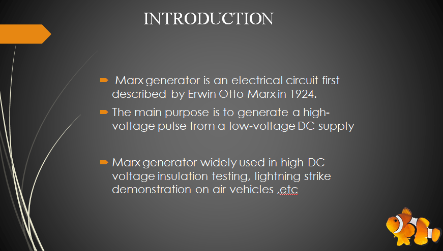 FINAL YEAR PROJECT-MARX GENERATOR BASED HIGH VOLTAGE USING