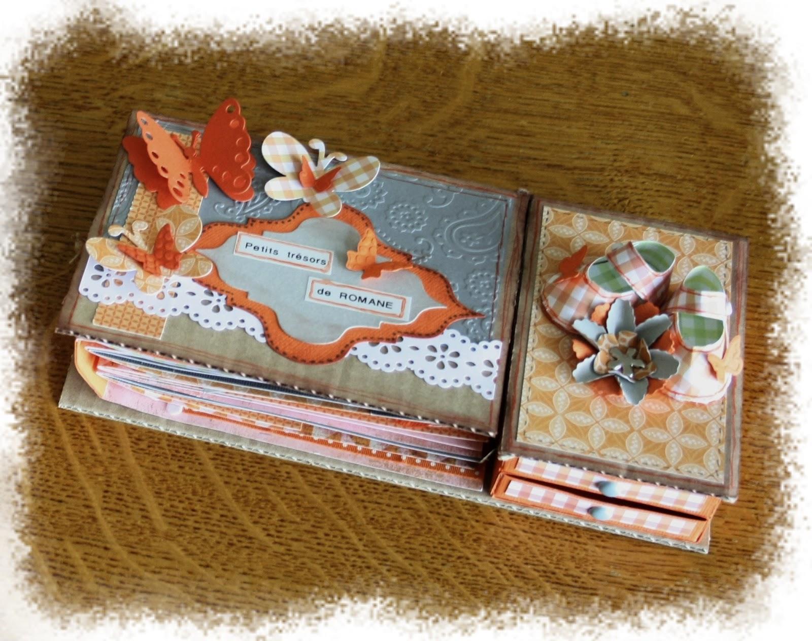 the nini 39 s scrap mini album et sa boite souvenir de naissance. Black Bedroom Furniture Sets. Home Design Ideas