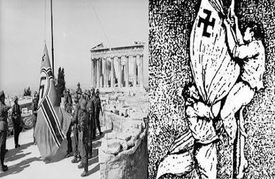 1941 - Β΄ Παγκόσμιος Πόλεμος: Ο Μανώλης Γλέζος και ο Απόστολος Σάντας αναρριχώνται στην Ακρόπολη της Αθήνας και κατεβάζουν τη γερμανική σημαία.