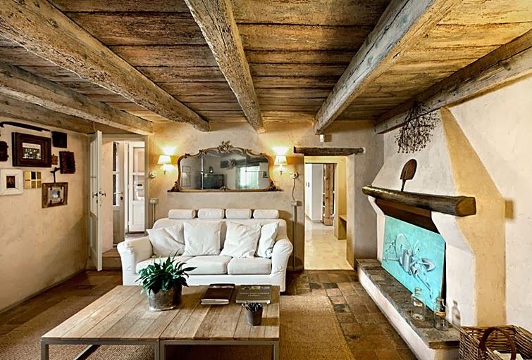Casa r stica linda decora o e inven o - Muebles rusticos modernos salon ...