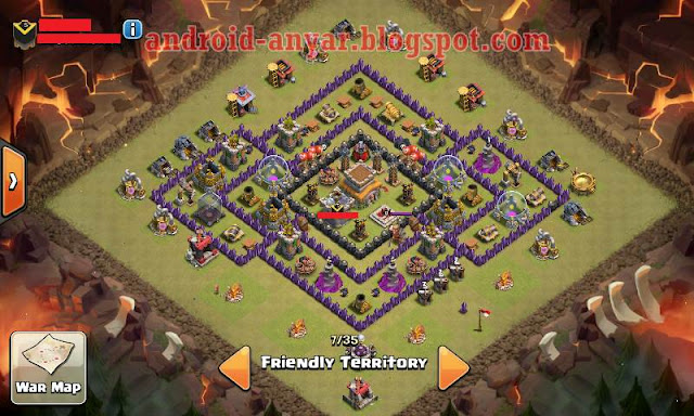 formasi base war TH8 paling kuat anti naga