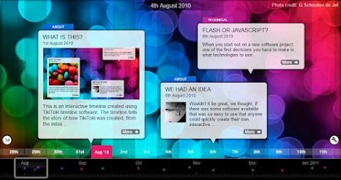 TIKI-TOKI: Increíble diseñador de líneas de tiempo interactivo