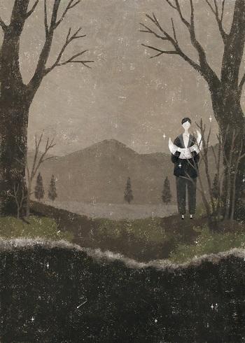 by Akira Kusaka | dibujos de soledad y tristeza, chidas imagenes lindas y tristes de emociones y sentimientos | deep emotional sad drawings