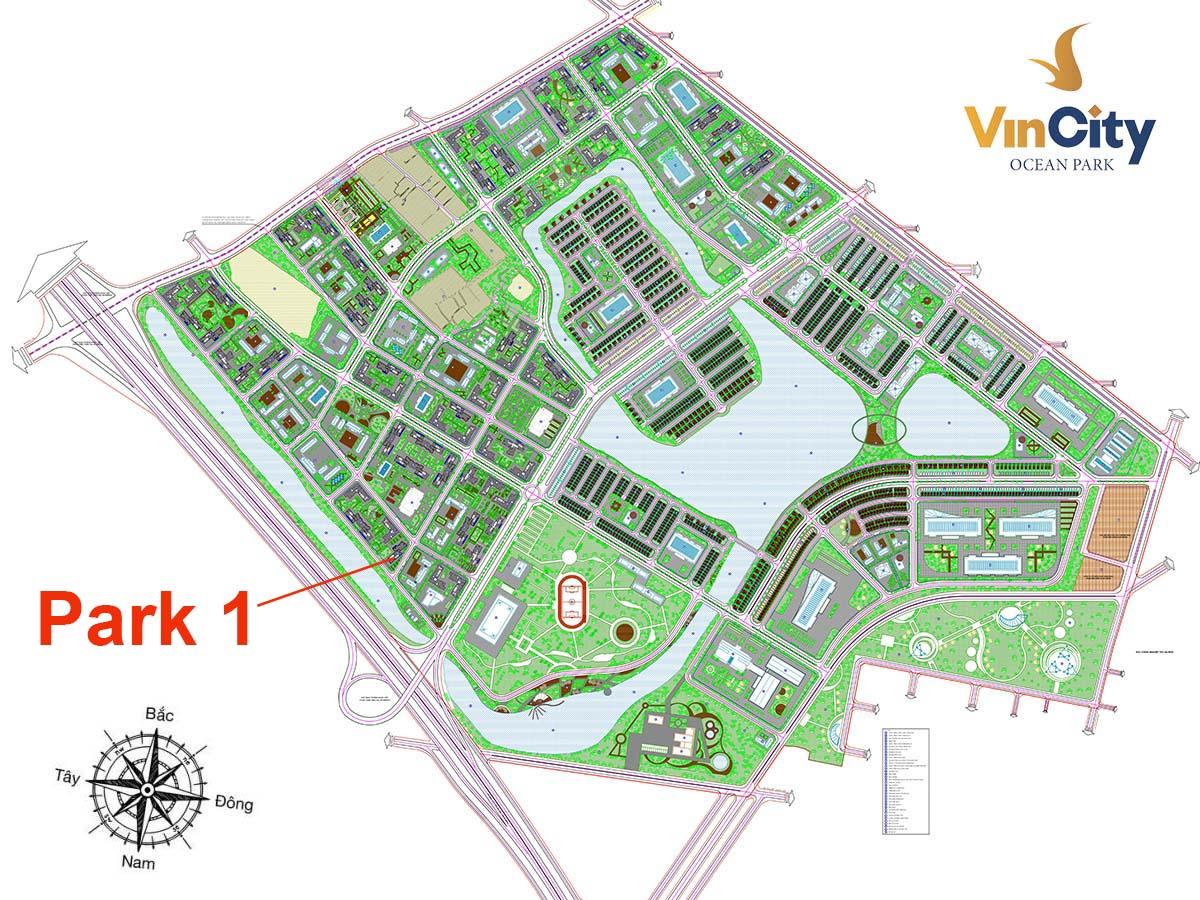 Tòa Park 1 VinCity Ocean Park Gia Lâm