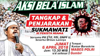 Desak Polisi Tangkap Sukmawati, Umat Islam Gelar Aksi Bela Islam 64