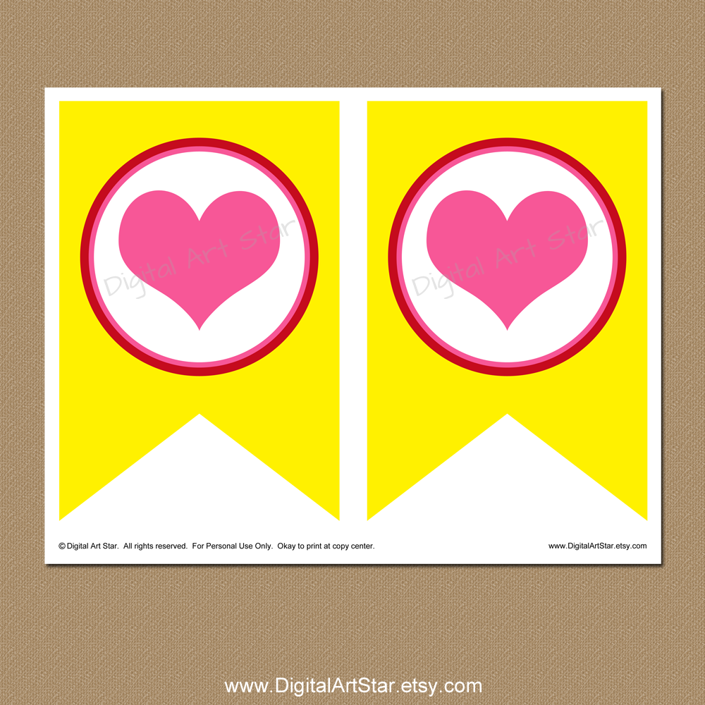 Heart spacer page for Bee Mine Valentines Day banner