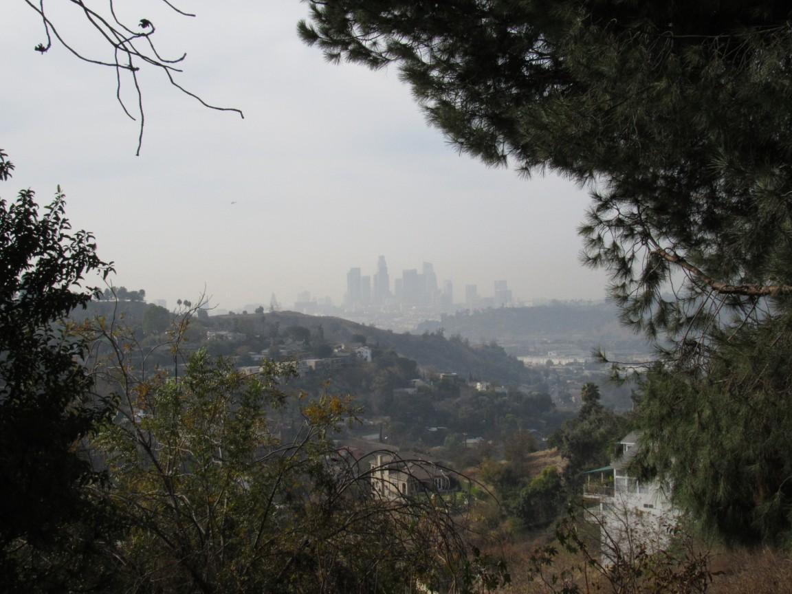 from deb s park the view through the smoke of downtown la from near cousin pj s house in south pasadena