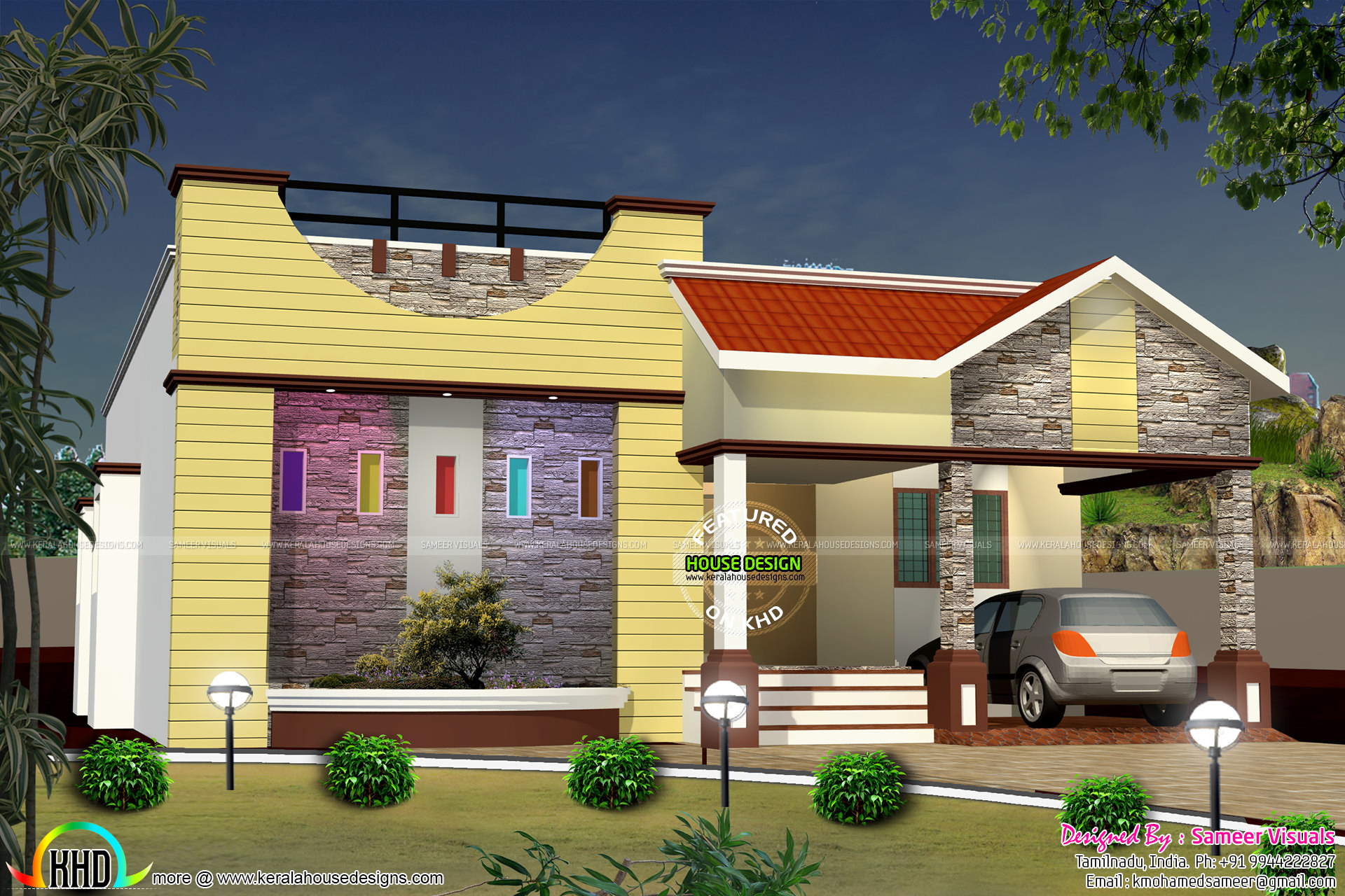 Cute Single floor designer home House Facilities