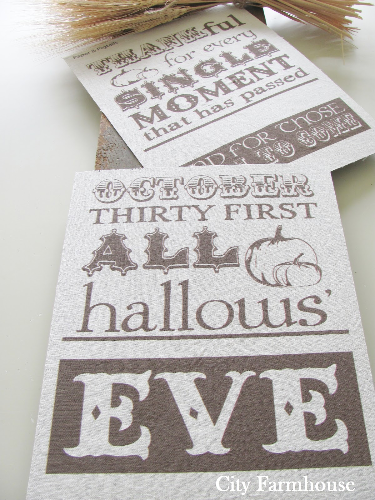 City Farmhouse Printing On Linen Tutorial Amp Free Fall Printables
