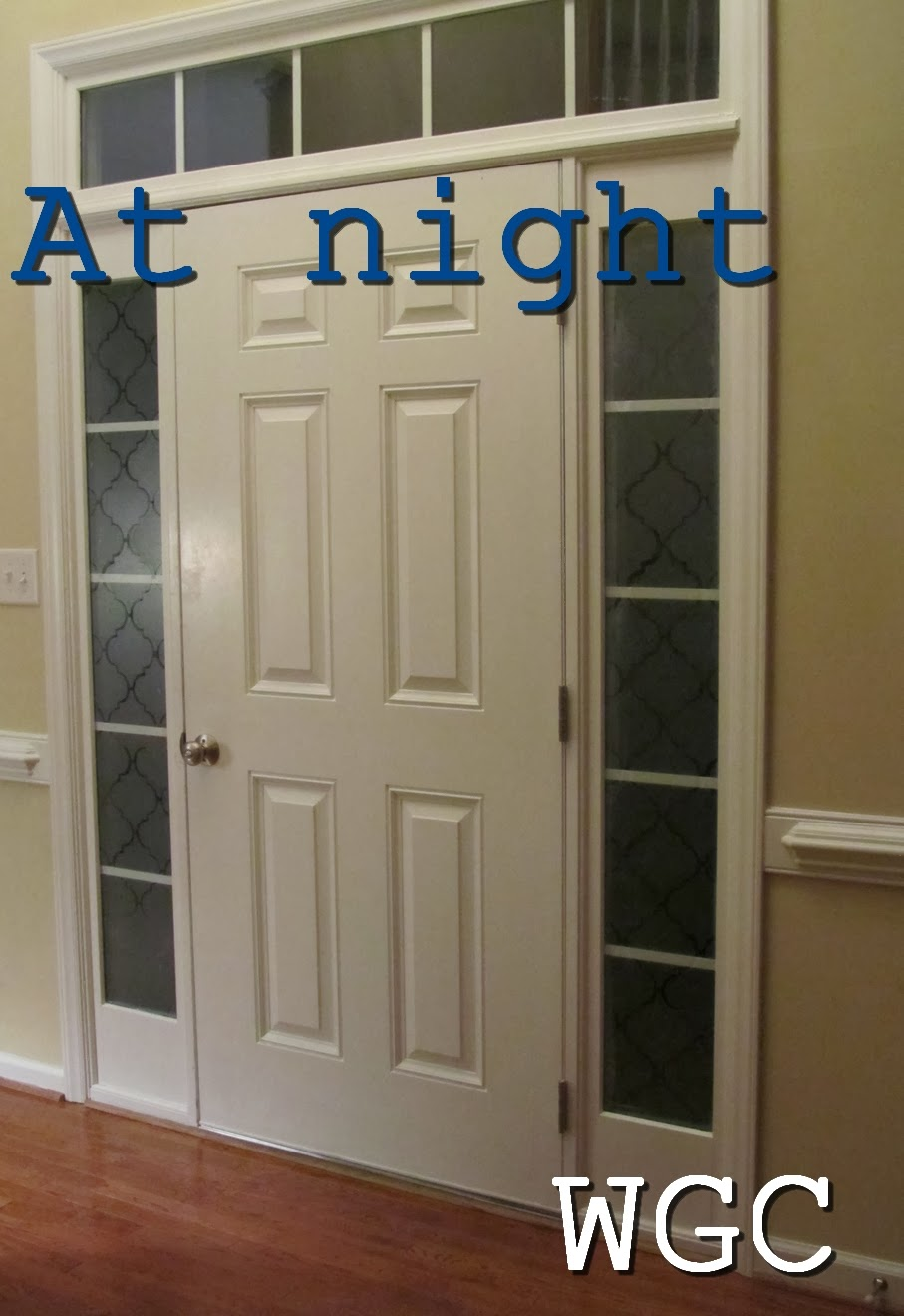 Wayward Girls Crafts Adding Privacy To Front Door Sidelights