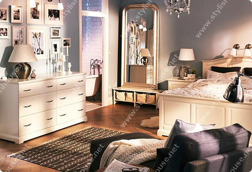 Wonderful classic bedroom queen size bed, 2 beside drawer chest, stylish dresser, medium drawer chest, 3 night stand, stylish wardrobe