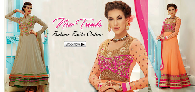 Best Anarkali Suits Online Shopping for Wedding Engagement and Reception Functions 2017-2018