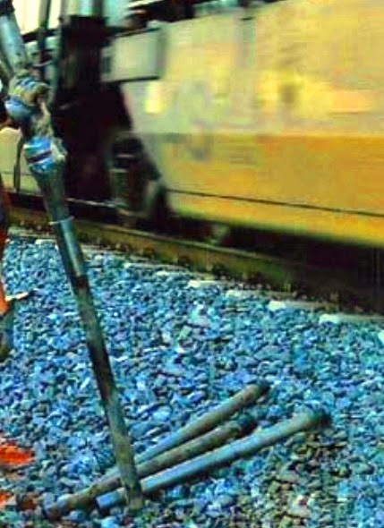 Grouting injection for stabilization of slope of rail-way track