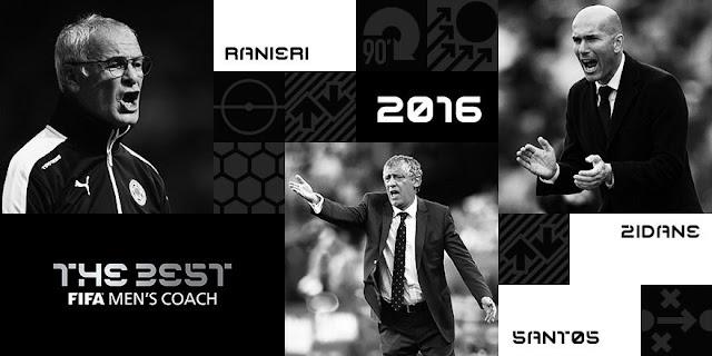 Melhor treinador do mundo em 2016: Ranieri, Zidane e Fernando Santos disputam o prêmio