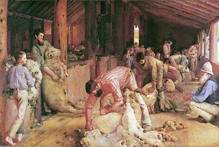 Shearing the rams - Tom Roberts painting
