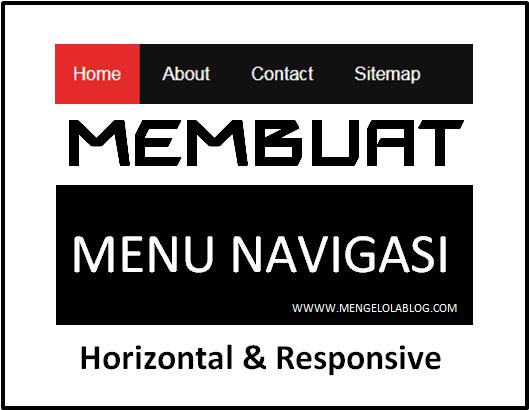 membuat menu horizontal responsive dengan css