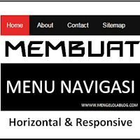 Cara mudah membuat menu horizontal responsive sederhana dengan CSS