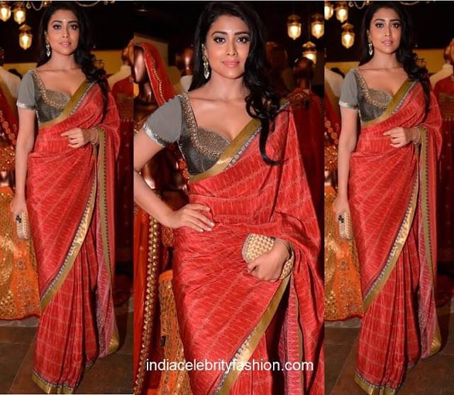 Shriya Saran in JJ Valaya Sari