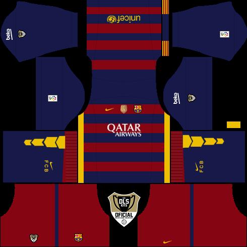 Kit & logo FC Barcelona Dream league Soccer 2016 - Super Android ...
